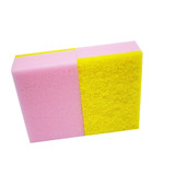 Composite scourer sponge