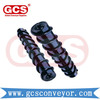 steel rubber disc heavy duty impact conveyor roller/Rubber Disc Conveyor Impact Roller Set