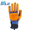 TPR cut resistant silicone dot coated protection gloves