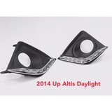2014 up for Toyota Corolla Altis LED daytime running light manual modification