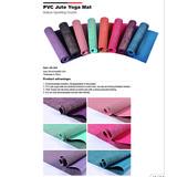 PVC Jute Yoga Mat