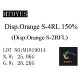 Disperse dyes Orange S-4RL  150%  Chemical Textile Leather Polyester Dyeing dyes Disperse Orange S-2RFL