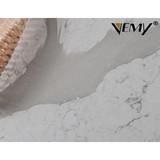 VM-18103 Big slab Calacatta countertop quartz, Wall decoration artificial polished white stone