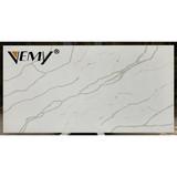 VM-161023 Artifical calacatta Quartz Stone,white quartz stacked stone, quartz slabs