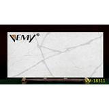 VM-18311 Artificial Calacatta White Quartz Slab