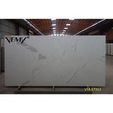 VM-17312 Vemy Calacatta white marble stone,Big slab countertop quartz