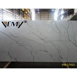 VM-17415 Vemy Calacatta white slab,Big slab quartz countertop