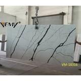 VM-18316 Artificial Calacatta Purple color Quartz Slab,Countertop surface
