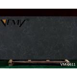 VM0611 Vemy New style calacatta black engineered quartz stone for Interior design