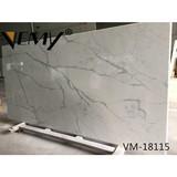 VM18115 Vemy New style calacatta white engineered quartz slab for Interior design