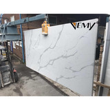 VM18111 Vemy New style calacatta quartz stone for kitchen countertop surface
