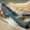 High efficiency sand washing machines with low water consumption