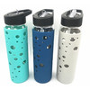 600ML GLASS WATER BOTTLE WITH SIPPY LID AND SILICONE SLEEVE