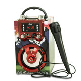 High Quality Hot Karaoke With Colorful light BT Speaker Multifunctional with USB and TF card Sound System FM Radio