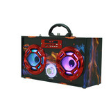 OEM Outdoor Super Bass Professional Subwoofer Music Active Speaker with USB port TF card DJ Sound Box coloful light