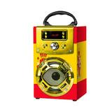 Mini Portable Wooden Karaoke Outdoor Speaker Handheld Wireless FM Radio with Microphone USB TF card Floor Standing