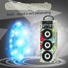Audio Wood Wireless Music Portable Karaoke Speaker Trolley Sound Box Outdoor with USB TF Card FM Radio