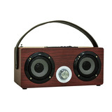 2018 New Hot Original BT Speaker Portable Wireless Mini Wooden Sound Box for IPhone and Android with SD and USB