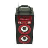 New 1000mah Battery Two Microphone Holes BT Speaker Wireless Portable Outdoor Wooden USB/TF card Karaoke Function