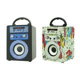 LED  BT Speaker Mini 3W Portable Universal Magic Club Wireless Audio Handsfree Music with FM radio Support TF card and USB