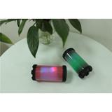 Mini Round Wireless Bluetooth Speaker Colorful lights PVC Bluetooth Bazooka Speaker
