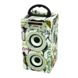 Portable Karaoke & BT Wooden Speaker in stock for Gift with FM radio & USB card input
