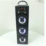 Good Quality BT Karaoke Stereo speaker Tower System Party Lights USB/SD/Aux Audio InputRremote Control with 4inch