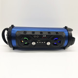 Ultra Bass 5 Inch Bazooka Style Surround Blue tooth Wireless Powered Speaker with LED Lights