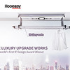 Intelligent clothes rack for haning more convenient