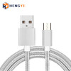 Popular Selling 1M 3FT 2.4A Nylon Braid Aluminum Alloy Metal Head Micro Cable USB V8 Cord