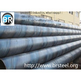 SSAW welded pipe,ASTM A252 GR 3 SSAW  Steel Pipe, API 5L Welded  Black Paint Coating Water Well Steel Pipes,api 5l gr.b x42 x46 x52 x56 x60 x65 x70 ssaw carbon pipe,ssaw welded pipe according to api 5l and astm a53 gr.b 12 meter large diameter pipe