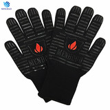 Amazon hot selling 932F heat resistant bbq grill gloves