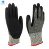 HPPE PU Palm Coated Level 5 Cut Resistant Gloves for Industry safety work