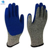Cheap price Blue latex coated anti-slip cut resistant hand gloves