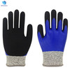 Customized HPPE nitrile coated cut& oil resistant gloves for industry