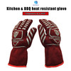 OEM& ODM aramid barbeque grill heat resistant gloves for cooking