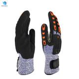 TPR anti-impact cut resistant mechanical work gloves