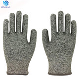 Wholesale level 5 HPPE fiber cut resistant safety work gloves for glass manufacturing