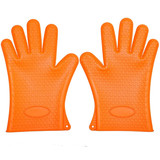 Household Hand Protection Heat Resistant Silicone Oven BBQ Gloves