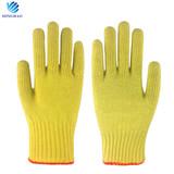 OEM 100% aramid fiber seamless knit anti cut heat resistant industrial safety gloves