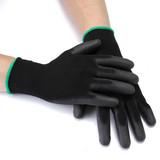 13 Gauge Nylon Seamless Knitted Anti Slip PU coated Nylon gloves