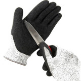 Professional Anti Slip Black Latex coated Anti Cut Gloves for Industry