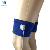 Tens unit electrode knee sleeve silver fiber vibrating unit knee sleeve for tens