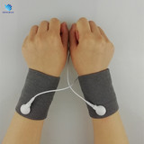 Professional silver fiber acupuncture physiotherapy conductive pulse massage bracers