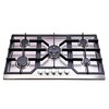 five burners gas stove buit in style