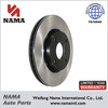 Automotive Spare Parts Replaced Brake Disc Black Painted