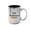 High quality multicolor ceramic electroplated mug -15oz