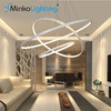Modern Acrylic Circle Pendant lights Contemporary Chandeliers round hotel led pendant lamp