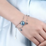 Platinum Plated Sterling silver bracelet