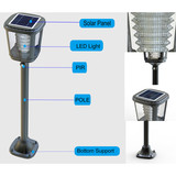 super bright led integrated solar garden light